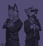 Looking quite dapper [Doodle] by volucriis