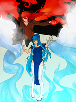 of Red and Blue by Girutea