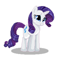 Rarity Pixel Art by catawump