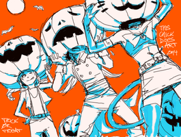 PUMPKIN HEADS by This-Chick-Does-Art