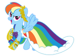 Rainbow Dash Gala Dress by PhilipTomkins