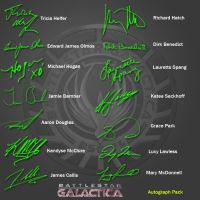 BSG Autograph Pack by PZNS