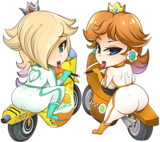 Rosalina and Daisy by TacoheadShark