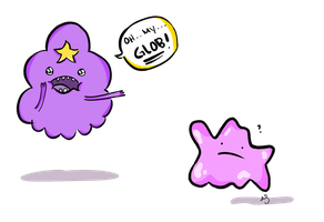 Lumpy Space Princess and Ditto by msappy