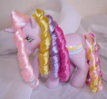 Rehaired/ Restored Streaky My Little Pony by mayanbutterfly