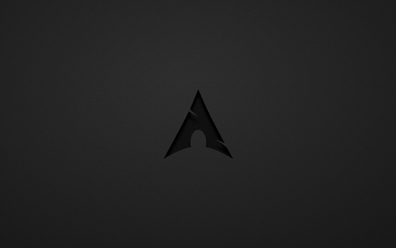 Arch Linux BW Wallpaper by thales-img