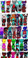 58 Sonic Adoptables- 3 Points Each! 23 Left! by FlamingPulse