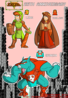 LoZ 25th anniversary pic by BrokenTeapot