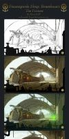 Process of Steampunk Ship: BH by Industrial-Forest
