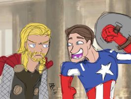 Thor Dark World Captain America Winter Soldier by Ninjasmacks
