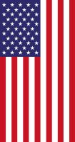 US Flag Vertical Display Stars by Sings-With-Spirits