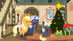 Pointy Christmas 9 : Applejack and Silverlay by Steampunk-Brony