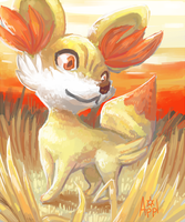 Fennekin by ApplejackMan