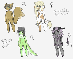 Chibi Adopties One +Open+ by Stephys-Adoptables