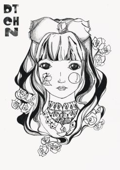 Alice in Wonderland Series BW 1 by dtchn