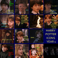 Harry Potter Icons- Year 1 by CaliAli16