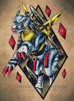 Metalgarurumon Tattoo Commission by RetkiKosmos