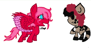 iScribble: Filly Trouble Pink and Garnett by LPS100