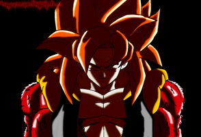 SSJ4 Gogeta H+S Colored by JamalC157