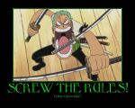 I Have Green Hair! roronoa zoro by preetkiran1016