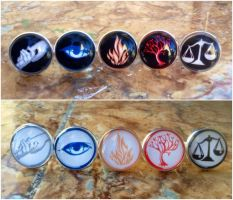 Divergent Faction rings by Saloscraftshop