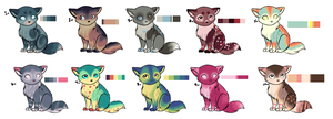 Little Kitties Batch 1 [CLOSED] by Xecax