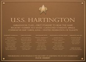 U.S.S Hartington plaque by AlainaM