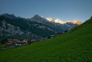 Gimmelwald Morning by themobius