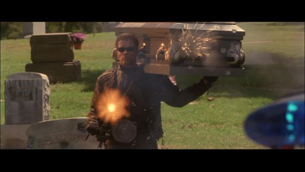 Terminator in the graveyard by 2bad4u2day