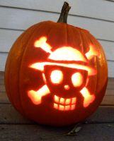 Strawhat Pumpkin by The-Emerald-Otter