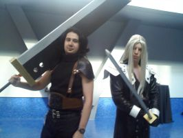 sephiroth and zack by envy192