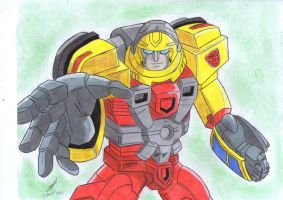 Hot Shot 3 Transformers Armada by ailgara