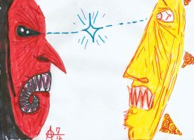 Duelling Masks by MrAdam