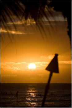 Tiki Sunset by PacIslander2