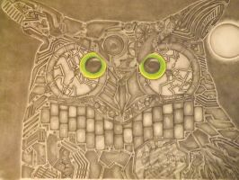 Mechanized/Clock Owl by Ignaixx