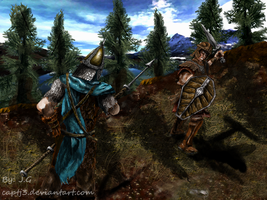 Battle For Skyrim: Imperial vs Stormcloak- A Duel by CaptJ3