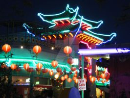 Neon Pagoda - Chinatown L.A. by ShipperTrish