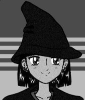 Witchy me - b+w by uh-oh