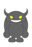 Silver the Silver Devil Chao (outline, no shade) by RuBoo