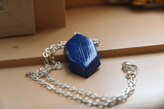 Blue Rupee Necklace by tourmalinedesign