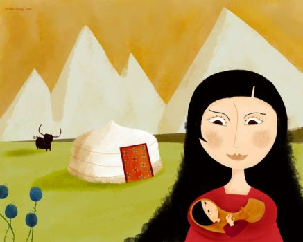 The baby from the high plateau by nicolas-gouny-art