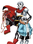 Sans and Papyrus by Nekoise-the-Akatsuki