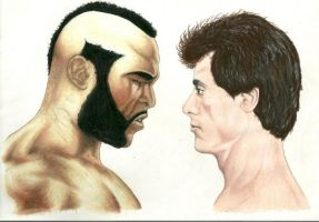 MR.T VS. ROCKY by KYLE-CHANEY