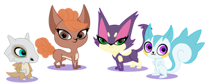 More Pokepets by LucySpicyStrawberry