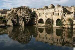 View of Water Wheels at Hama by obada911