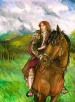 Fraser returns home with his bride. by Emmillustrate