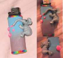 Elephant lighter cover by sneakyfetusprod