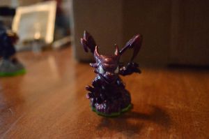Skylanders Custom Metallic Purple Cynder by kieleanddaddy