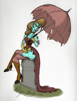 Elegant Steampunk Zombie by Little-Katydid