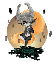 Midna With Shadow Piece by AurrieChan